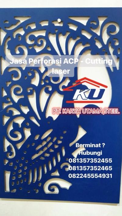 Jual Jasa Perforasi Aluminium Composite Panel Murah Ready Berbagai Motif