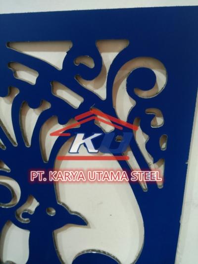 Jasa Perforasi Aluminium Composit Panel (ACP) Daerah Sidoarjo Motif Custom